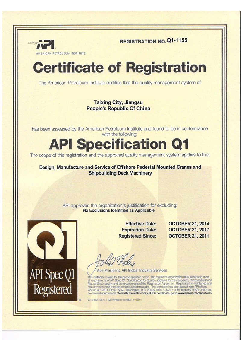 Certificate Workshop APIQ1